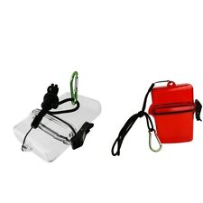 New listing Scuba Diving Dive Diver Surf Waterproof Dry Box Case Container Holder & Clip
