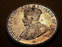 1921 Straits Settlements Ch BU Original Toned Lustrous 50 Cents UK Silver Coin