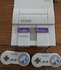 SUPER NINTENDO SNES System CONSOLE W  CONTROLLERS All CORDS BUNDLE Tested Works!