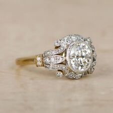 1.6 Ct Diamond Vintage Edwardian Circa Inspired Antique Engagement Art Deco Ring