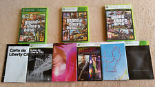 lot gta xbox 360 / complets avec cartes . tbé