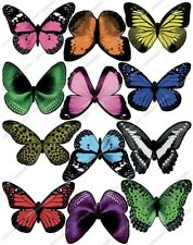 Cakeshop 12 x PRE-CUT Assorted Colour Edible Butterfly Cake Toppers