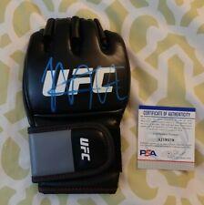 Khabib Nurmagomedov signed autographed UFC MMA Fight Glove PSA COA #AJ19379