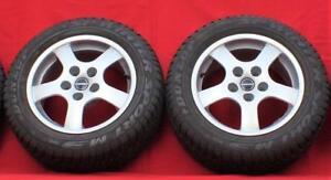 "Set of 2 BORBET Type B 16/7.5"" Alloy Rims w/Dunlop Winter Sport 225/55/R16 Tires"