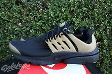 NIKE AIR PRESTO ESSENTIAL SZ 9 BLACK METALLIC GOLD 848187 007