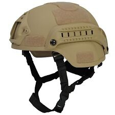 Lancer Tactical MICH 2000 SF Type Replica Airsoft Protective Helmet Tan CA-380T