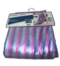 Your Zone Glimmer Throw Reverse to Super Soft Sherpa, Polar Pink. Brand New!