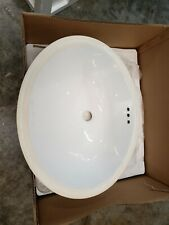 Restoration Hardware 19 in Ceramic Sink White Basin Bath Undermount 23800471