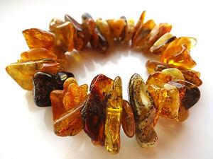 Natural  Raw Baltic Amber Bracelet 30 - 40gr