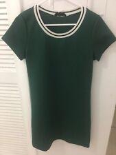 Dress Green Short Sleeve Dress Women Size m