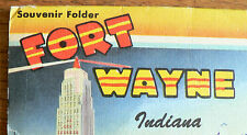 FORT WAYNE, INDIANA, U.S.A. - FOLD OUT POSTCARD - 16 VIEWS - 1950's ?