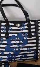💕💕💕MIMCO Large Black Blue Printed Lunar Aloha Tote Handbag Purse Set BNWOT 💟