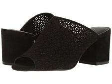 New Lucky Brand Black Suede Islando2 Slip On Mule Sandals Shoes Womens Size 8.5