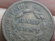1809 Capped Bust Half Cent- Scarce Type Coin- VG/Fine Reverse Details!