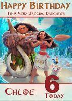 Personalised Disney Moana Birthday Card