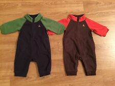 Twins BABY GAP Boys Long Sleeve Fleece Warm Winter Jumpsuit Onesie Size 0-3m