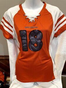CUTE Denver Broncos Peyton Manning Women's Lg Orange Jersey Style Shirt, NICE!