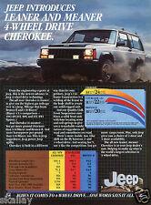 1983 Print Ad of Jeep 4-Wheel Drive Cherokee
