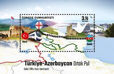 TURKEY 2017, TURKEY AZERBAIJAN JOINT STAMP, BAKU TBILISI KARS RAILWAY TRAIN MNH