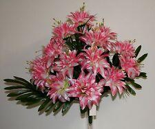 Bouquet facial Dahlia satiné x 15  Fleurs Artificielles intérieur/extérieur