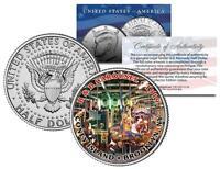 CONEY ISLAND 1919 B&B CAROUSEL Colorized JFK Half Dollar U.S. Coin BROOKLYN NY