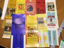 Original Vintage Tobacco Package Labels Lot Of 10