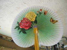 Hand Held Fan - Heart Shape - Butterfly & Flower- Peoples Republic Of China Yell