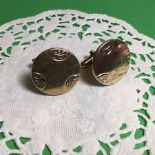Swank Mens Goldtone Cufflinks Nice Nice Looking Pair Of Designer Signed