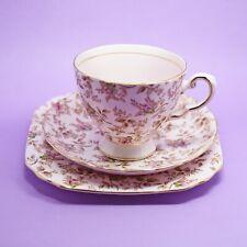 Tuscan Pink Chintz Tea Trio, Cup, Saucer, Plate, Royal Tuscan, Vintage, England