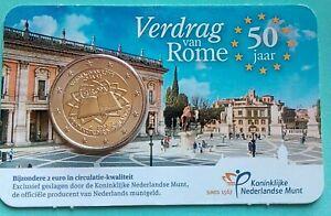 "Pays-Bas 2007   Coincard 2 Euro ""Traité de Rome""  Rare"