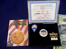 Olympic Pin Set USA Home Team Centennial 3 Pins COA Limited Edition Athens 1996