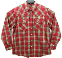 Canyon Guide Outfitters Men's Size XL Pearl Snap Long Sleeve Western Shirt Plaid