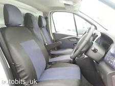 GREY BLACK FABRIC SEAT COVERS TAILORED FOR RENAULT TRAFIC SPORT BUSINESS 2014+