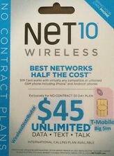 -> Unlimited T-Mobile On Your Android $35 Mo. No Data Limit Net10 Sim Card