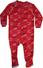 NEW Detroit Red Wings 12  Month Infant Baby Sleeper Pajamas Coverall