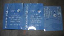 2010 FORD Explorer MERCURY Mountaineer Sport Trac Service Shop Manual Set W EWD
