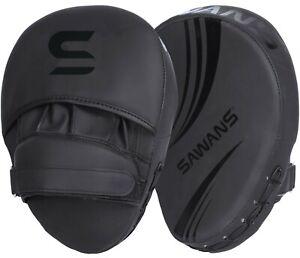 SAWANS® Boxing Focus Pads Hook & Jab Mitts Kick MMA Curved Arm Training Punching