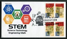 """5276-79 * """"STEM"""" EDUCATION * 2018 ISSUE * ALL 4 STAMPS ON 1 FDC * VAR. 1 >"""