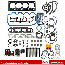 Full Gasket Main&Rod Bearings&Rings Bolt Set 00-04 Ford Focus 2.0L 8V SOHC VIN P