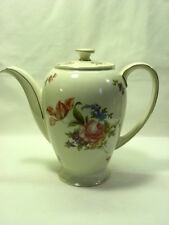 Rosenthal Coffee Pot Ivory, Gold Trim, Florals, Ivory, Winifred Shape