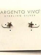 Argento Vivo Sterling Silver Star Stud Earrings