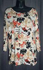 Palm Grove Women's Blouse 3/4 sleeve size L