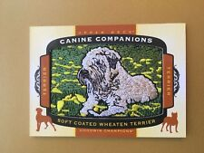 2018 Upper Deck Goodwin Champions Canine Companions Soft Coated Wheaten Terrier