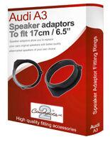 """Audi A3 speaker adapter pods Front Door 17cm 6.5"""" fitting plates adaptors"""