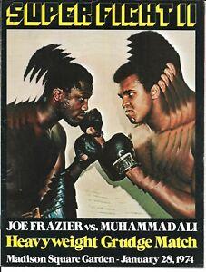 Joe Frazier Muhammad Ali II   Boxing Program January 28, 1974
