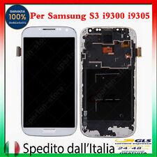 DISPLAY LCD PER SAMSUNG GALAXY S3 GT-i9300 i9305 TOUCH SCREEN VETRO SCHERMO