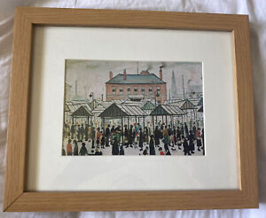 Market Scene Northern Town By LS Lowery Framed Print