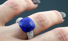 Ring Gold 750 Lapislazuli 1,08 ct Brillant brilliant cut diamond Gr 52 wie neu