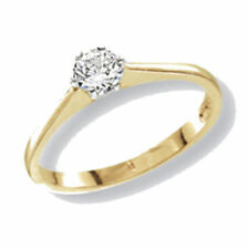 Unbranded Yellow Solitaire Fine Rings
