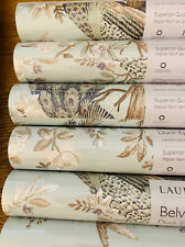 Laura Ashley Belvedere Duck Egg Wallpaper Paste The Wall * FREE DELIVERY *
